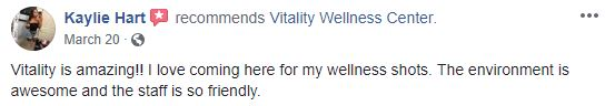 Vitality Wellness Center Client Testimonial