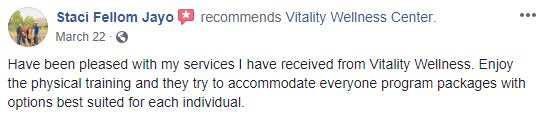Vitality Wellness Center Patient Testimonial